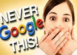 مواردی که هرگز نباید در گوگل جستجو کنیم - جستجو در موتورهای جستوگر همچون گوگل