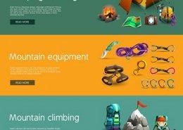 طراحی وب سایت برای فروش محصولات لوازم و وسایل کوهنوردی و طبیعت گردی